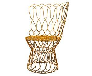sedia liberty in metallo Sunny arancione - D 76/H 99 cm