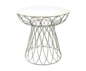 tavolo liberty in metallo Sunny bianco - D 74/H 71 cm