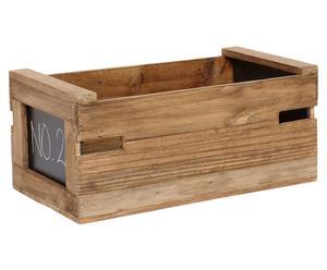 Cassetta in legno con lavagnetta Miria - 51x26x21 cm