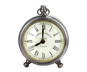 orologio da tavolo in metallo zincato e vetro eslov - d 12/H 15 cm