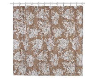 Tenda in cotone per vasca Shells beige - 183x183 cm