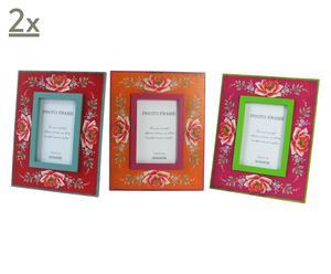 set di 6 cornici portafoto flower - 19x14 cm