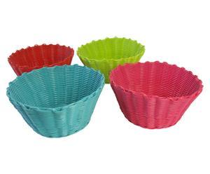 set di 4 formine per cupcake glossy - d 24/H 12 cm