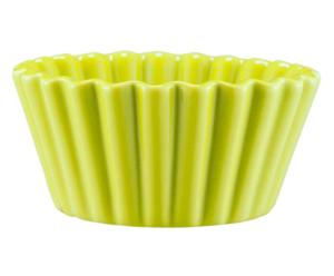 Teglia in terracotta Cupcake lime - D25 cm