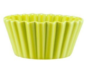 Teglia in terracotta Cupcake lime - D25 cm