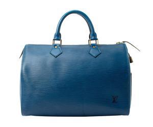 borsa Louis Vuiton Blue Sac Souple 35 - 37x26x21 cm