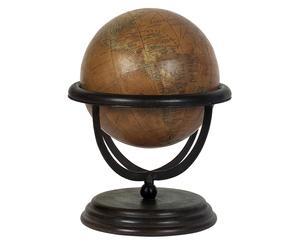 Soprammobile Mappamondo in legno di mango MYKONOS - 24X30 cm