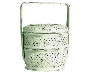 vaso decorativo con coperchio FRIDA menta - d 24/H 37 cm