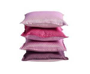 set di 4 cuscini in cotone e organza emily - 40x40 cm