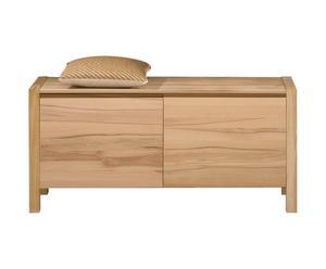 Scarpiera in legno di faggio a 2 scomparti - 109X150X40 cm