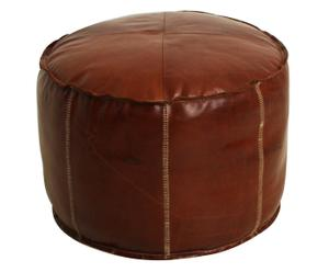 pouf in pelle industrial - 60x43 cm