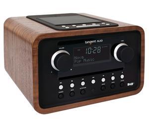 radiosveglia con sistema Docking per iPod, iPhone e DAB ALIO - legno