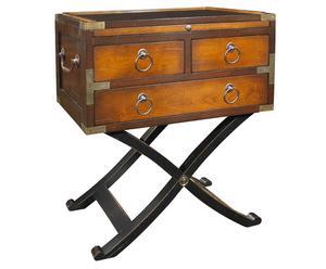 tavolino in ciliegio selvatico e acero Bombay miele - 56x40x66 cm