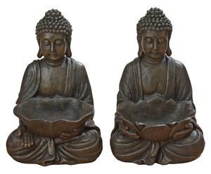 Set di 2 CIOTOLE IN RESINA BUDDHA - 20X30X17 CM