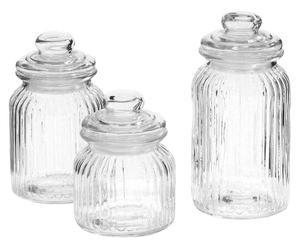 Set di 3 barattoli in vetro Larissa