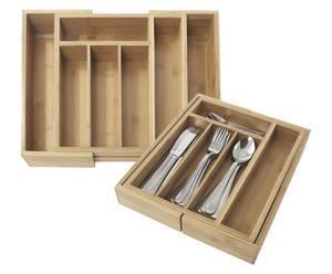 Organizer regolabile da cassetto in bambu' Gyver - Max 34x39 cm