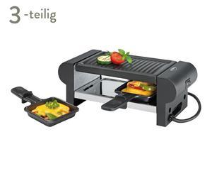Mini-Raclette-Set Marie, 3-tlg., schwarz/grau