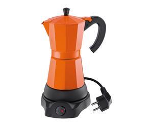 CAFFETTIERA ELETTRICA IN ACCIAIO ORVIETO ARANCIONE - 19X14X27 CM