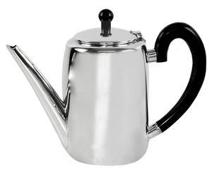 Caffettiera con manico in ottone argentato Malys - da 1,1 L
