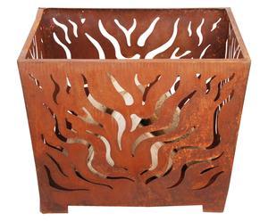 Braciere in metallo verniciato Durham marrone - 60x45x60 cm
