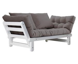 Divano/futon multifunzionale BEAT white grigio - max 200x80 cm
