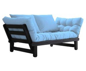 Divano/futon multifunzionale BEAT black azzurro - max 200x80 cm