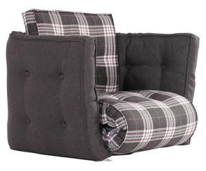 Poltrona/futon multifunzionale Dice Chair square grigio - 80X60X80 cm