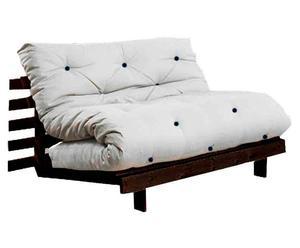 Divano/futon multifunzionale Roots Wenge beige - 140X73X65 cm