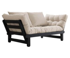 Divano/futon multifunzionale BEAT black beige - max 200x80 cm