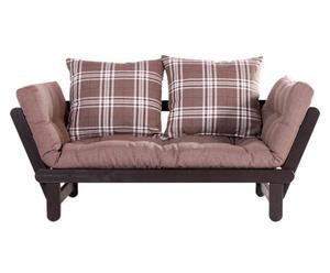 Divano/futon multifunzionale BEAT NATURAL square cioccolato - max 200X80 cm