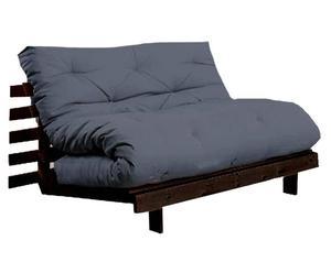 Divano/futon multifunzionale Roots Wenge grigio - 140X73X65 cm