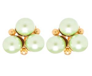 Paio di orecchini in metallo con inserti in resina Mila - verde