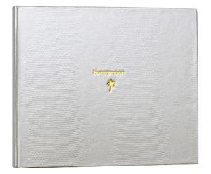 Album in lattice con segnalibro in seta honeymoon bianco - 23x20 cm