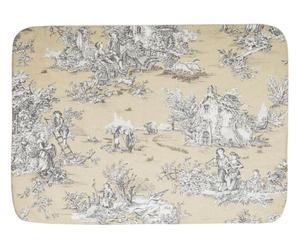 Copertina per cuccia in cotone Delaware beige/bianco - 70x50 cm