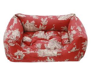 Cuccia in cotone Delaware rosso/beige - 70x25x50 cm
