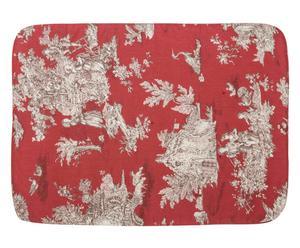 Copertina per cuccia in cotone Delaware rosso/beige - 70x50 cm