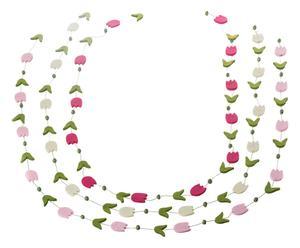 Set di 3 ghirlande decorative in feltro Roses - L 110 cm