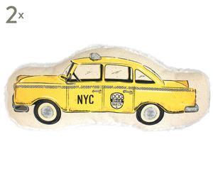 Set di 2 giochi per cani in cotone e velluto Taxi - 27x2x13 cm