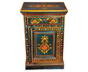 Comodino in palissandro indiano con cassetto Kavindra - 50x76x33 cm