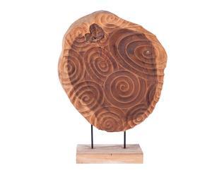 Scultura decorativa in legno naturale Deco Natural - 70x28x100 cm