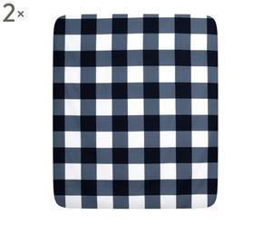Coppia di lenzuola sotto con angoli matr. in cotone Fitted