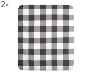 Coppia di lenzuola sotto con angoli piazza 1/2 in cotone Luisa - grigio