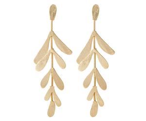 orecchini in ottone placcato oro Venus Leaf - H9 cm