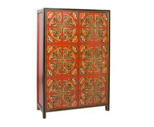 Armadio in legno di olmo a due ante Tibet - 150x90x42 cm