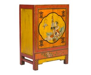 Credenza in legno di olmo a due ante Xiang - 82x57x37 cm