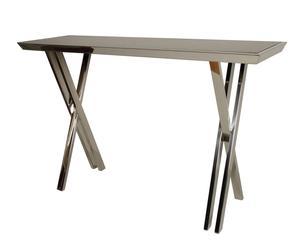 Consolle in metallo e vetro Clichy - 80x130x40 cm