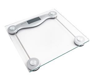 Bilancia digitale in vetro e metallo Modern