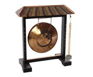 Gong decorativo in metallo e legno ASIA