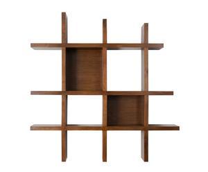 Libreria da parete in mogano Cecilia - 110x110x20 cm