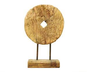 Scultura a gong in legno CIRCULO - 78x48x14 cm